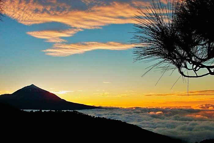 Atardecer en El Teide en Tenerife