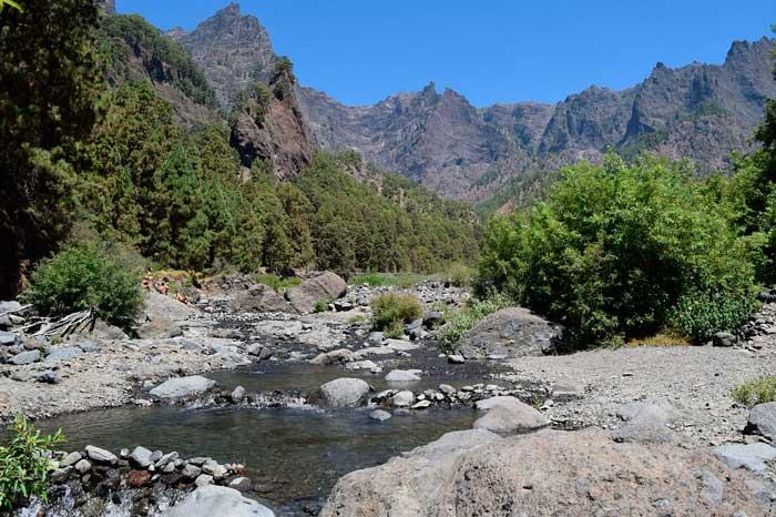 Barranco de Las Angustias en La Caldera de Taburiente
