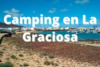 Camping El Salado en La Graciosa: cómo acampar en la playa y permisos