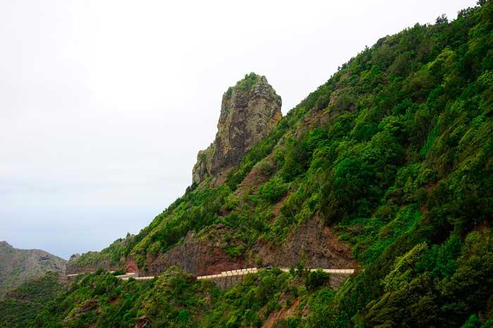 Carretera de Taganana en el Parque Rural de Anaga