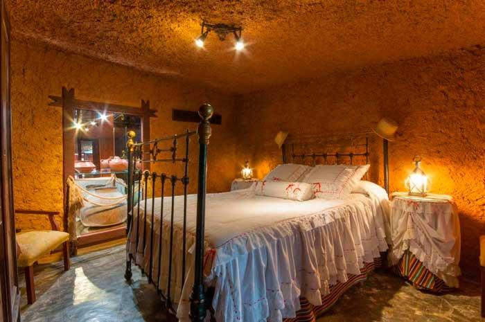 Dormitorio de una Casa Cueva en Gran Canaria