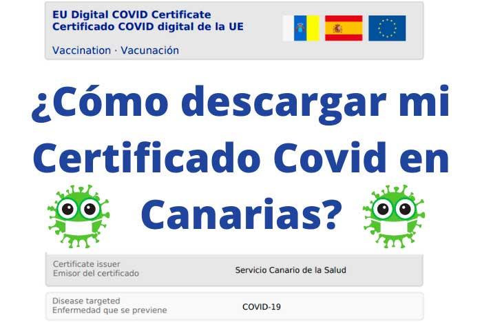 Cómo descargar mi certificado de Covid en Canarias