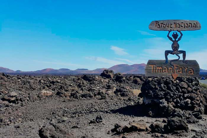 Diablo de Timanfaya en El Parque Nacional de Lanzarote