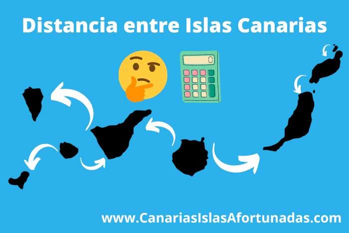 Distancia entre las Islas Canarias