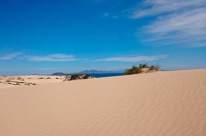 Dunas de Corralejo en el Parque Natural de Fuerteventura