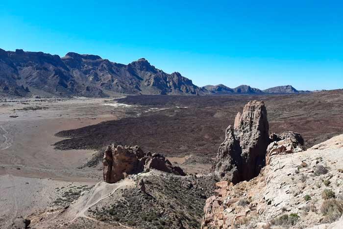 Malpais del Parque Nacional del Teide en Tenerife