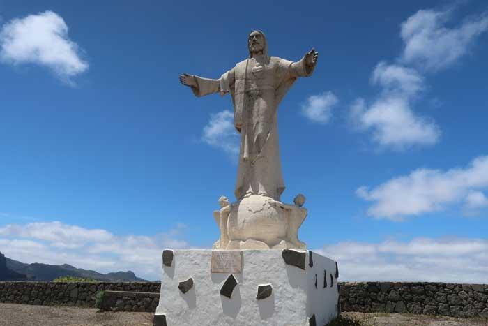 Escultura del Sagrado Corazón de Jesús en Artenara