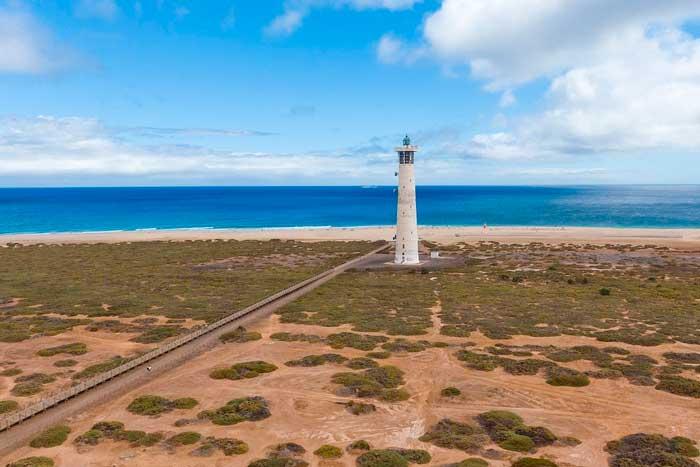 Faro de Morro Jable en el sur de Fuerteventura