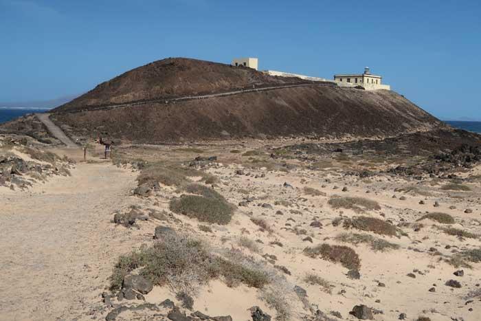 Faro Punta Martiño en la isla de Lobos, Fuerteventura