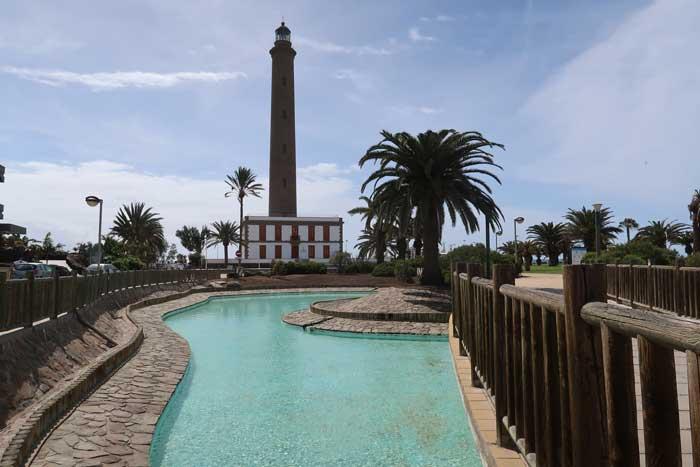 Faro de Maspalomas en el sur de Gran Canaria