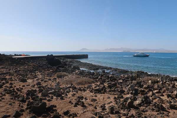 Muelle del Ferry en la Isla de Lobos