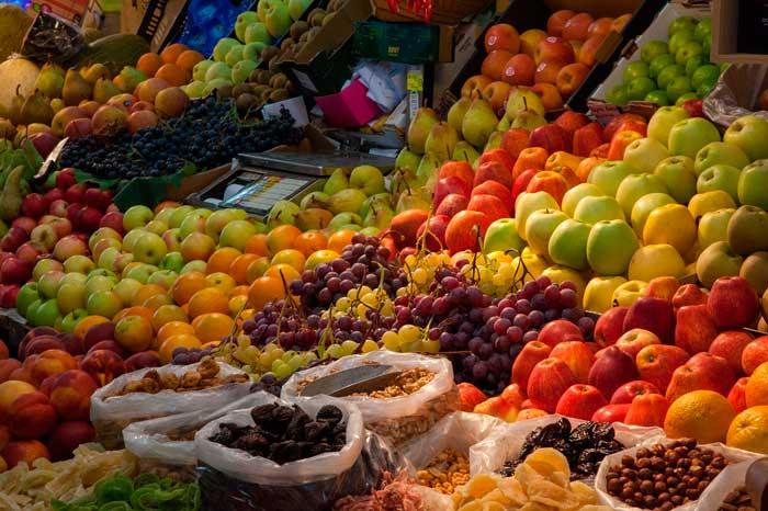 Frutas de un mercado en La Gomera