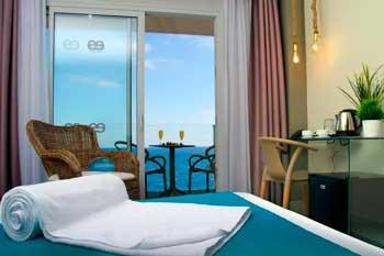 Habitación del Hotel Ereza Mar en Caleta de Fuste, uno de los mejores hoteles donde alojarse en Fuerteventura