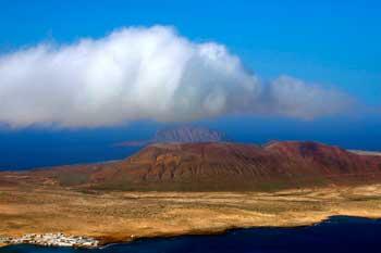Isla de La Graciosa en el archipiélago de Canarias