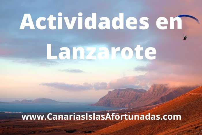 Mejores Actividades que hacer en Lanzarote