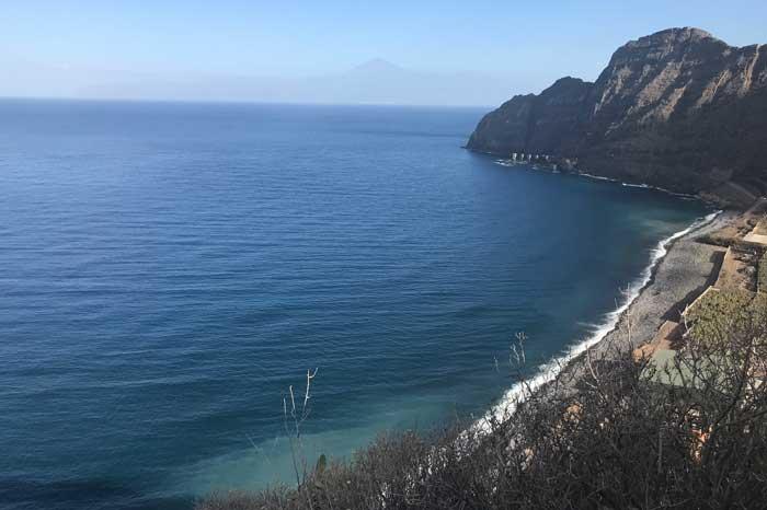 Mirador La Punta a la Playa de Santa Catalina en Hermigua, norte de La Gomera