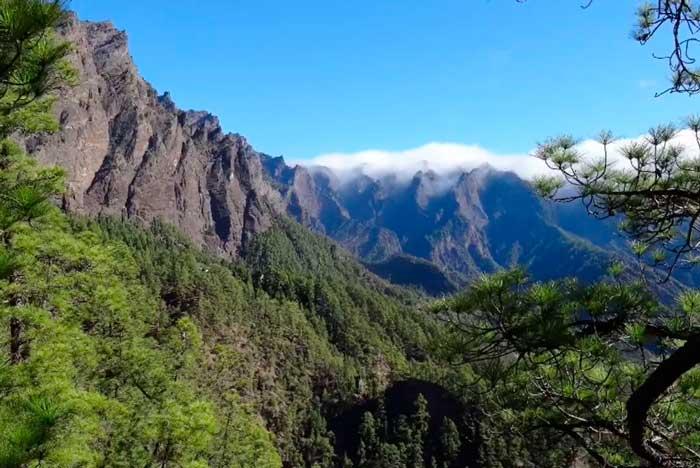 Mirador de los Brecitos en La Caldera de Taburiente de La Palma