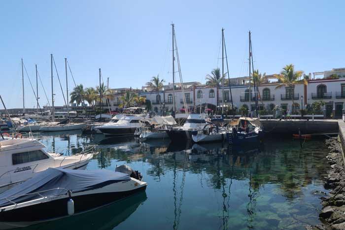 Muelle del Puerto de Mogán en Gran Canaria