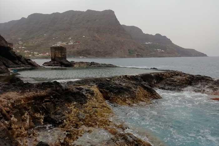 Piscina Natural del Pescante de Hermigua en La Gomera