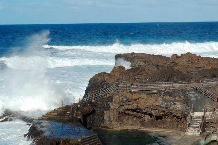 Piscinas Naturales de Fajana en Barlovento, La Palma