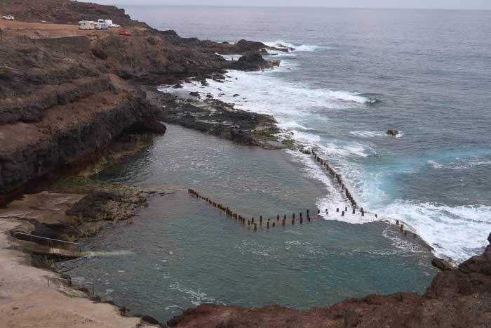 Piscinas naturales Roque Prieto en Guía, norte de Gran Canaria