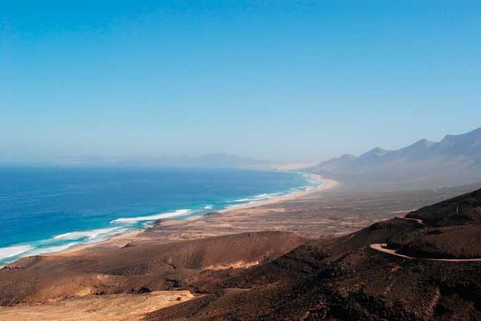 Playa de Cofete en el municipio de Pájara, Fuerteventura