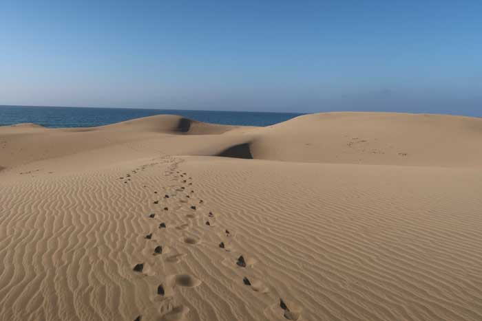 Playa de las Dunas de Maspalomas en el sur de Gran Canaria
