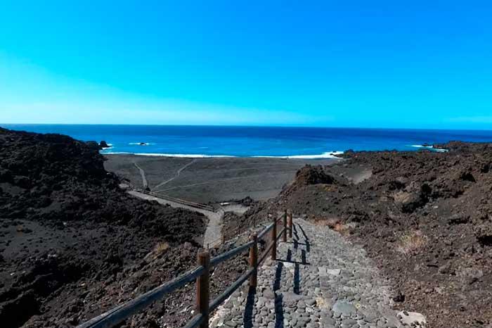 Playa de Echentive en Fuencaliente