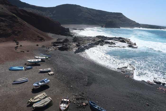 Playa El Golfo Lanzarote, Charco verde