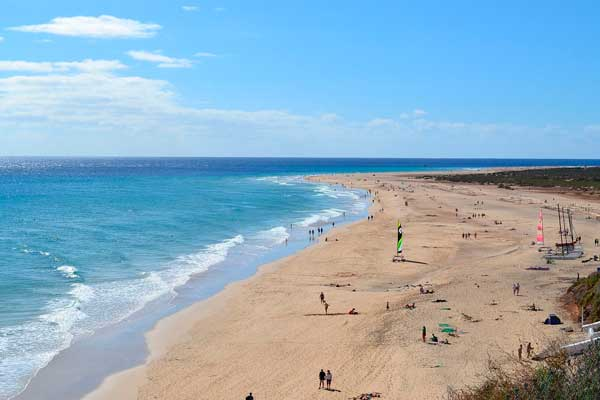 Playa de El Matorral en Morro Jable, sur de Fuerteventura