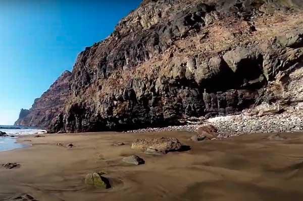 Playa de Güi Güi en el sur de Gran Canaria