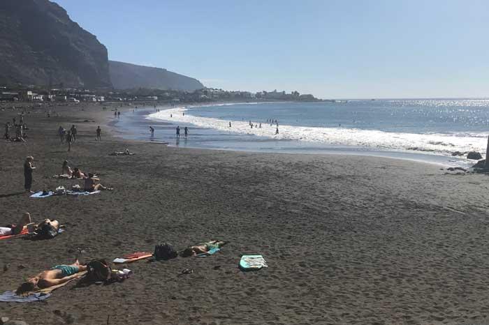 Playa La Calera en Valle Gran Rey en el sur de La Gomera