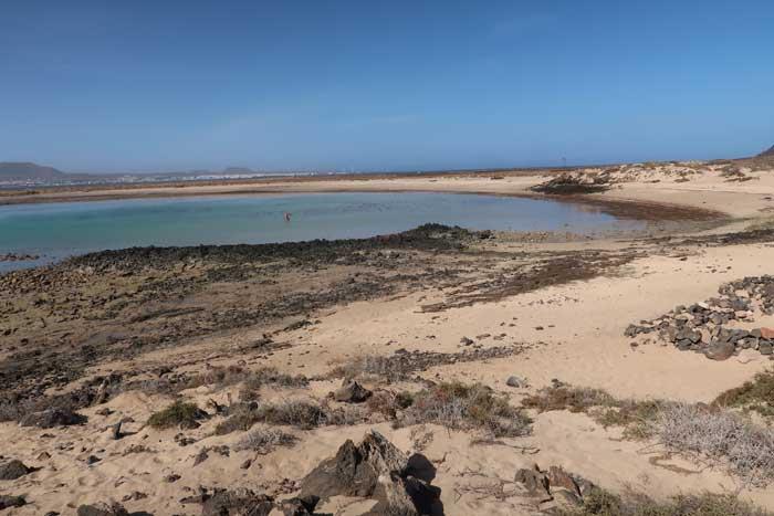 Playa de la Concha en el islote de Lobos