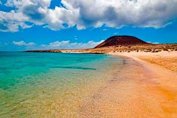 Playa de La Francesa en el sur de La Graciosa