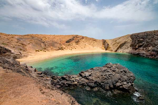 Playa de Papagayo en el sur de Lanzarote