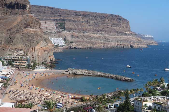 Playa de Puerto de Mogán en Gran Canaria
