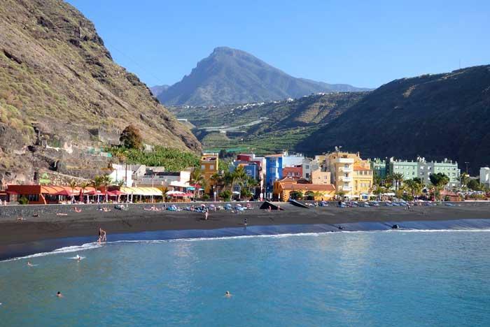 Playa del Puerto de Tazacorte en La Palma, Canarias