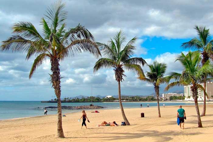 Playa del Reducto de Arrecife en Lanzarote