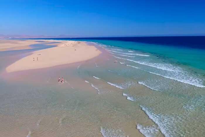 Playa de Sotavento En Costa Calma Fuerteventura