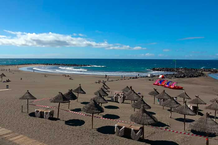 Playa de Troya en la Playa de las Américas en Tenerife