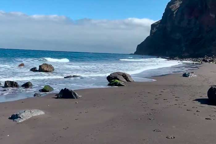 Playa del Inglés de Valle Gran Rey en La Gomera