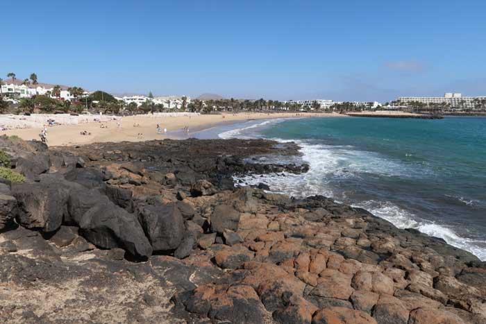 Costa Teguise en Lanzarote, Playa las Cucharas