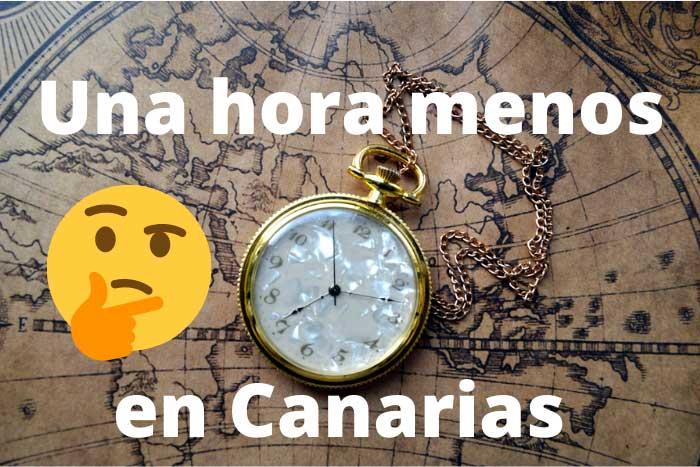 Porque Canarias tiene una hora menos que el resto de España