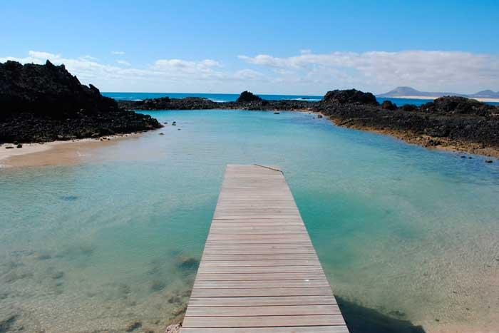 Playa Puertito de la Isla de Lobos en Fuerteventura