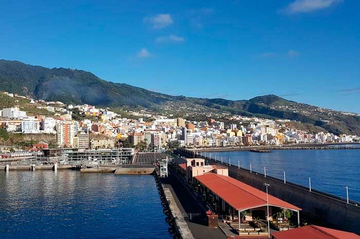 Panorámica desde el Puerto de Santa Cruz de La Palma