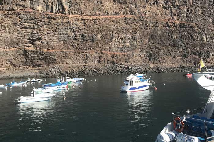Puerto pesquero de Vueltas en Valle Gran Rey
