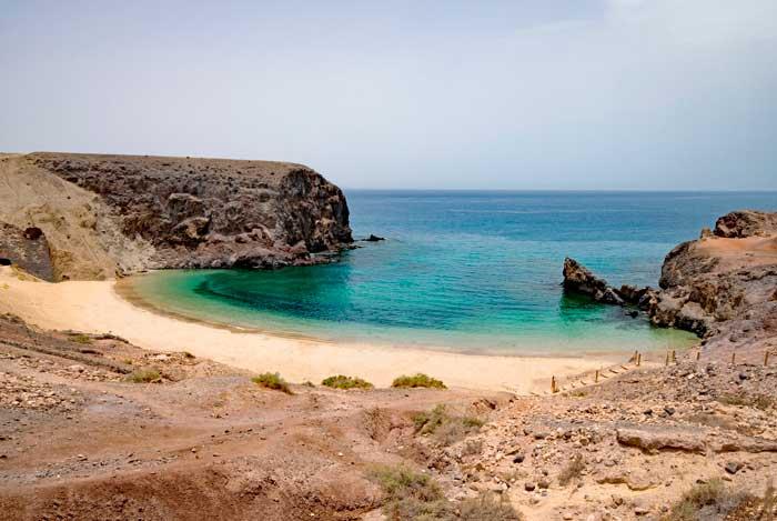 Playa de Punta del Papagayo en Lanzarote