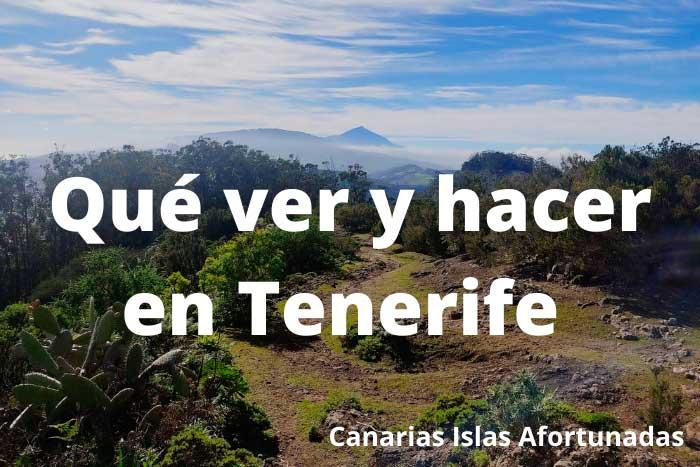 Qué ver y hacer en la Isla de Tenerife