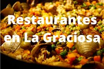 Los mejores restaurantes donde comer en la Isla de La Graciosa