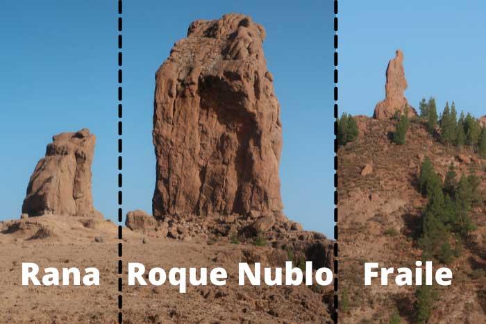 Roque Nublo, Rana y Fraile en Gran Canaria